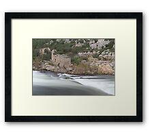 Rush and ruins Framed Print