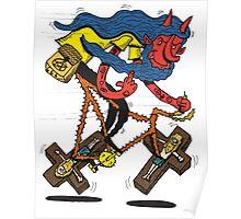 Satan rides  fixie! Poster