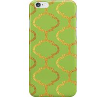 Mughal on acid green lattice Pattern iPhone Case/Skin