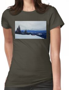 mount tourism Womens Fitted T-Shirt