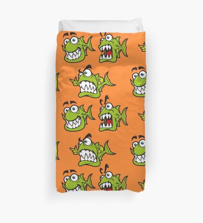 Cool Piranhas Duvet Cover
