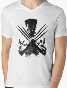 Wolverine painting  Mens V-Neck T-Shirt