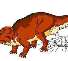 Protoceratops Laying Eggs by kwg2200