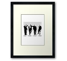 Architects Lineup Architecture T-Shirt Framed Print
