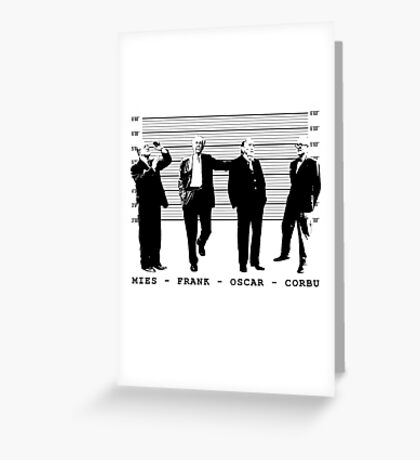 Architects Lineup Architecture T-Shirt Greeting Card