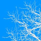Tree Limbs 2 Blue and White by deleas
