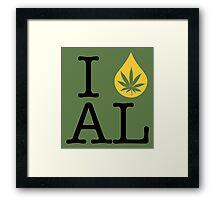 I Dab AL (Alabama) Framed Print