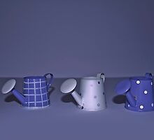 Purple Watering Cans by Denise Abé
