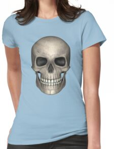 Silver Skull Womens Fitted T-Shirt
