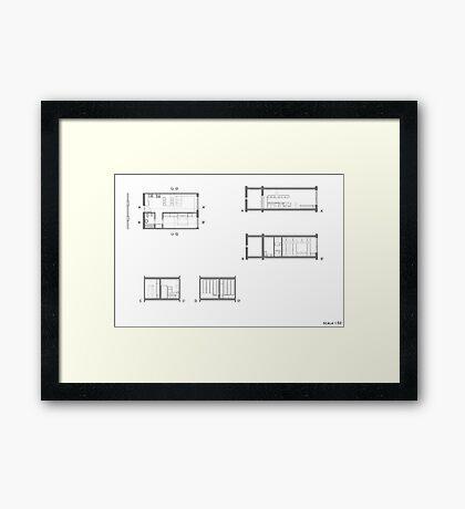 house details Framed Print