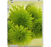 Green Spider Chrysanthemums iPad Case/Skin