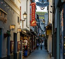 Drosselgasse Alley Ruedesheim, Germany by fotosic