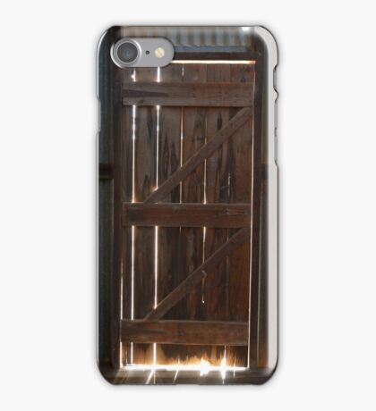 Farm Shed Door iPhone Case/Skin