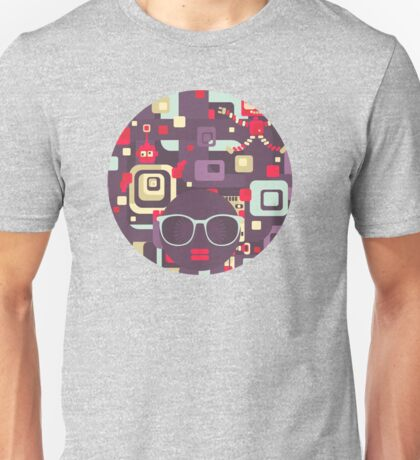 Geometric robots Unisex T-Shirt