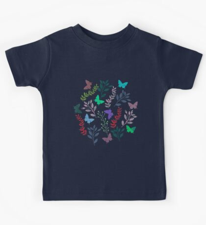 Watercolor Floral and Butterfly III Kids Tee