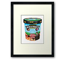 Ben and Jerrys Bacon Wrapped Shrimp Framed Print