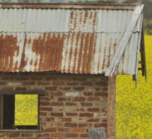 Red Brick & Yellow Fields Sticker