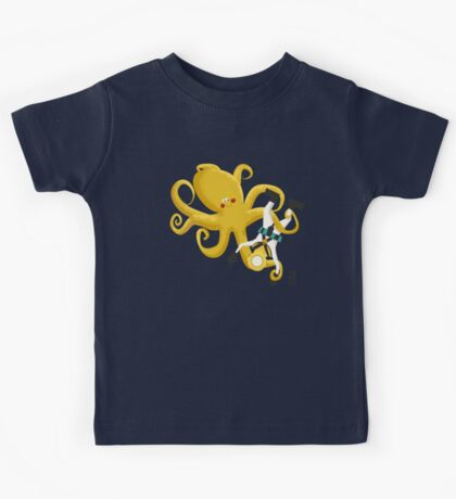 Octopus and Deep Sea Diver T-Shirts & Hoodies Kids Tee