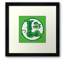Super Luigi Emblem Framed Print