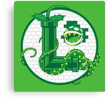 Super Luigi Emblem Canvas Print