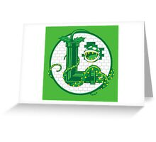 Super Luigi Emblem Greeting Card