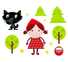 New design in Shop : red riding Hood Photographic Print