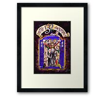 Crowded in the TARDIS (Doctor Who 50th Anniversary) Framed Print