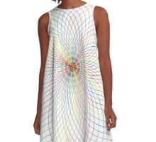 Minimal Geometric Psychedelic Circle A-Line Dress