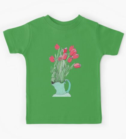 A pitcher of Tulips Kids Tee