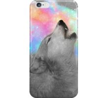 Breathing Dreams Like Air (Wolf Howl Abstract II: Gray) iPhone Case/Skin