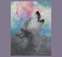 Breathing Dreams Like Air (Wolf Howl Abstract II: Gray) Kids Clothes