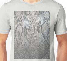 Shimmer (Silver Snake Glitter Abstract) Unisex T-Shirt