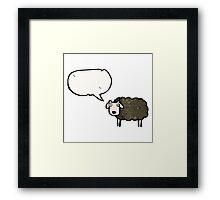 black sheep cartoon Framed Print