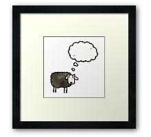 cartoon black sheep Framed Print