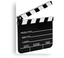 Clapperboard Canvas Print
