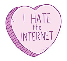 I hate the internet Photographic Print