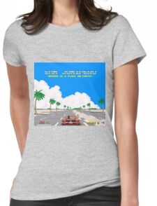 Black Mirror / San Junipero / Out Run Womens Fitted T-Shirt