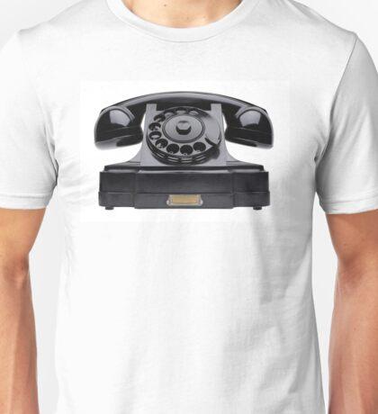 Old black telephone Unisex T-Shirt
