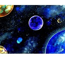 The Blue Planets Photographic Print