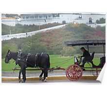 Horse Buggy on Mackinac Poster