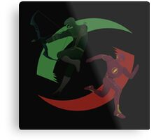 Green and Red Metal Print