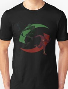 Green and Red Unisex T-Shirt