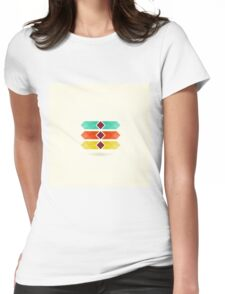 Abstract arrow3 Womens Fitted T-Shirt