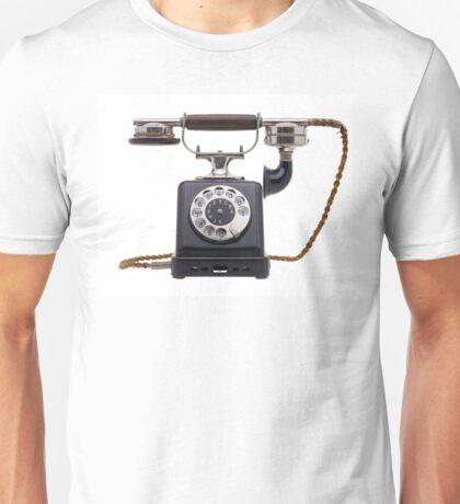 Antique black telephone Unisex T-Shirt