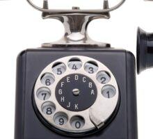 Antique black telephone Sticker