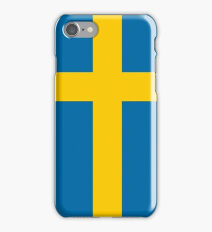 Blue and Yellow Striped Slimming Swedish Dress iPhone Case/Skin
