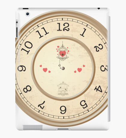 wall clock iPad Case/Skin