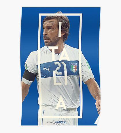 Italia - Pirlo Poster