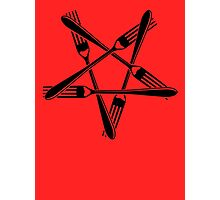Fork Pentagram (black) Photographic Print