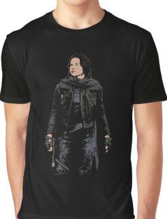 Jyn Erso - Star Wars: Rogue One - Black Graphic T-Shirt